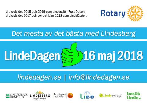LindeDagen 2018 bjuder in utställare som vill visa det bästa med Lindesberg