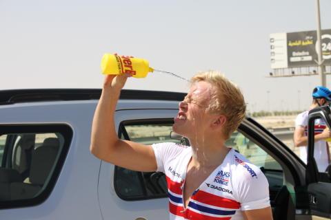 Fridjof Røinås under sykkel-VM 2016