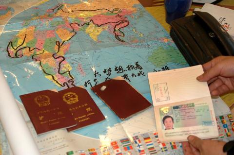 Chen Liangquan har hunnit avverka fyra pass på sin världsresa