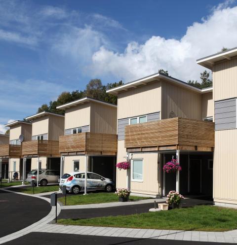 Visning 5 okt kl 12-13 Nybyggda radhus och lägenheter i Bergsjön