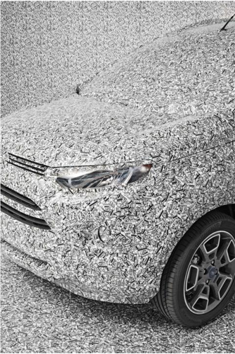 Hol is parkolsz, drágám? Az optikai csalódás segít, hogy a 'szelfi-kémek' ne tudják kilesni a Ford titkos formaterveit