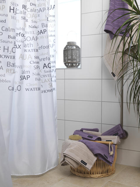 Shower curtain Flow, Terry towel Novalie Stripe_4