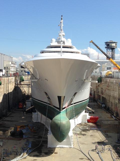 "Hi-res image - Coppercoat - Coppercoat-Superyacht, mega-yacht ""Maryah"""