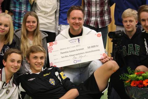 De får Skånemejeriers stipendium Barnens Hjälte