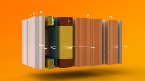 Älvsbyhus nya väggkonstruktion Energy Wall, med mått