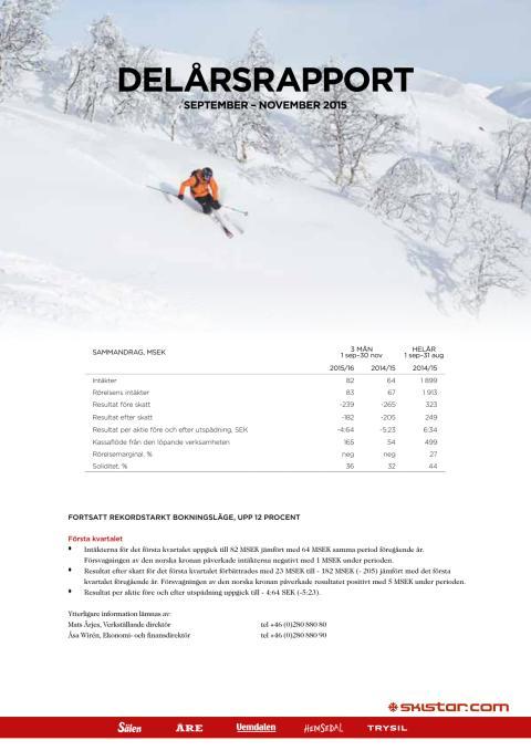 Delårsrapport sep-nov 2015-16