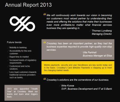 Crosskeys årsberättelse 2013 publicerad