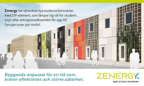 Zenergy tilldelas leveranser av Zenergy ZIP-Bostäder i modulform till HABO kommun