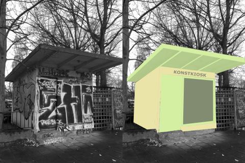 Konstkiosk bas för samtal om offentlig miljö i Skåne