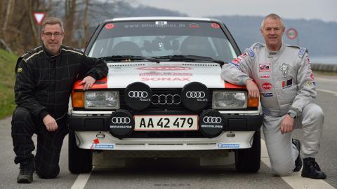 Team Audi 80 - Toni Hansen, Per Brodersen og Audi 80 GLE (foto: Michael Eisenberg)
