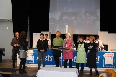 Prisutdelning av medaljörerna i Matverk Östergötland som hölls i samband med Smaka Östgötamat i Linköping i lördags.