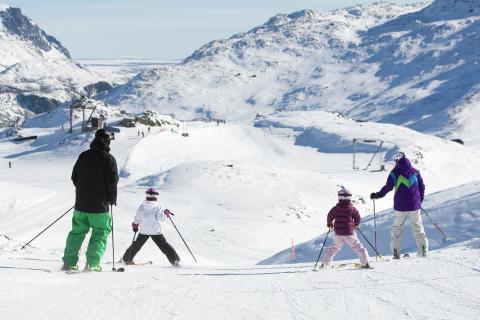 Skifahren mit der Familie in Hemsedal