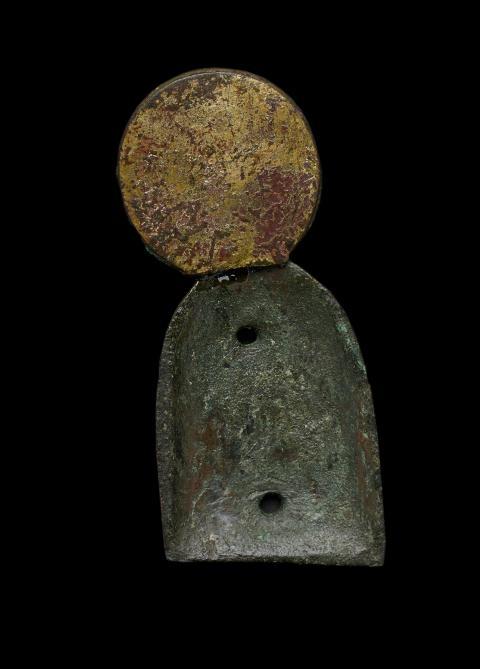 Jomfru Maria-figur fundet i Søby Kirke (bagsiden efter konservering)