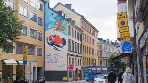 Lendo målar Stockholm grönt
