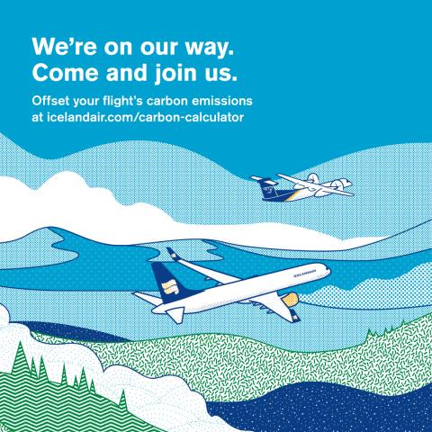 Icelandair and Air Iceland Connect passengers can now offset their carbon footprint