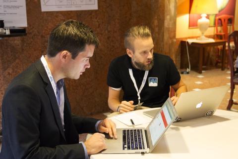Stefan och Jacob at the 2014 Platform Summit