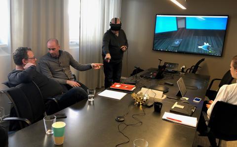 Virtual reality testas i SSGs kurser