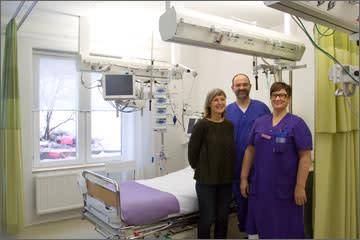 Borås först ut i landet att forska kring rummets påverkan på intensivvårdspatienter