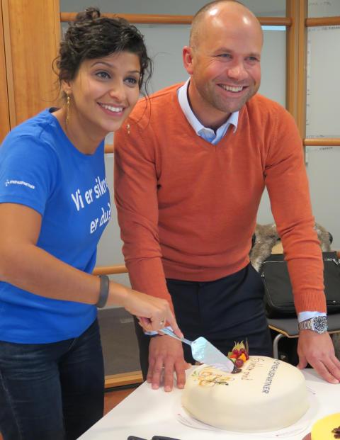 Najla Jabba, Prosjektleder hos Sykehuspartner feirer vellykket pilot sammen med Thomas Nilsen i Canon Norge