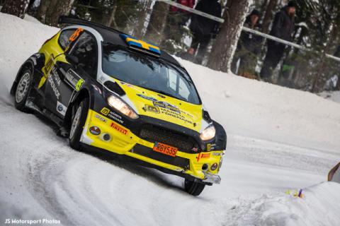 Johan Holmberg Team märsta Förenade under Svenska Rallyt 2018