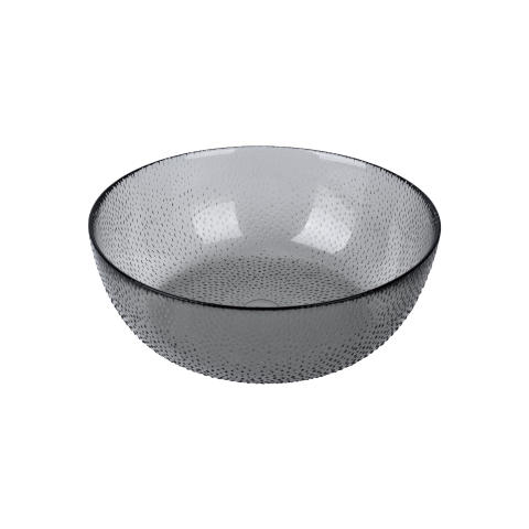 aida - RAW glass beads, skål, smoke, D 20,5 cm, H 8 cm, vejl. pris 119,- DKK