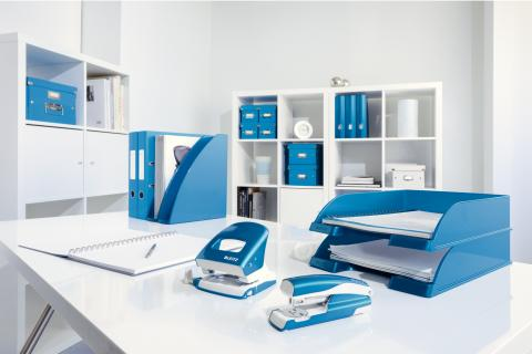 Leitz WOW range in blue