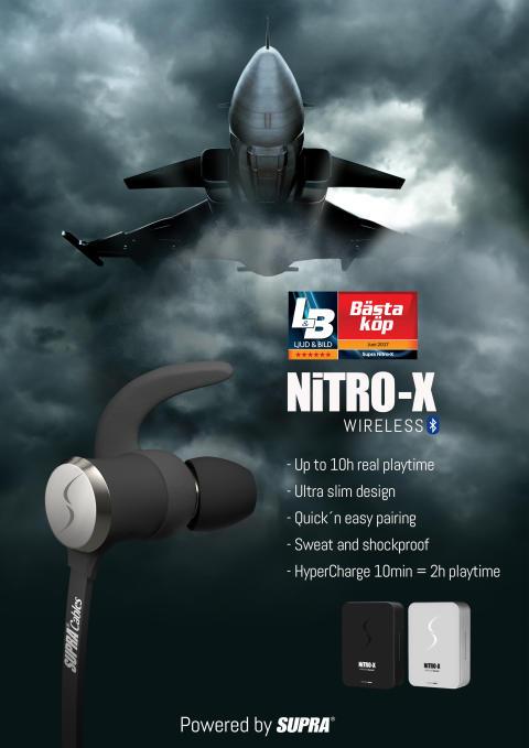 NITRO-X – Trådlösa hörlurar för extrema aktiviteter