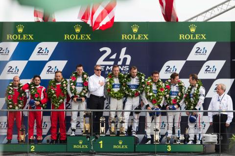 Le Mans podium 2016