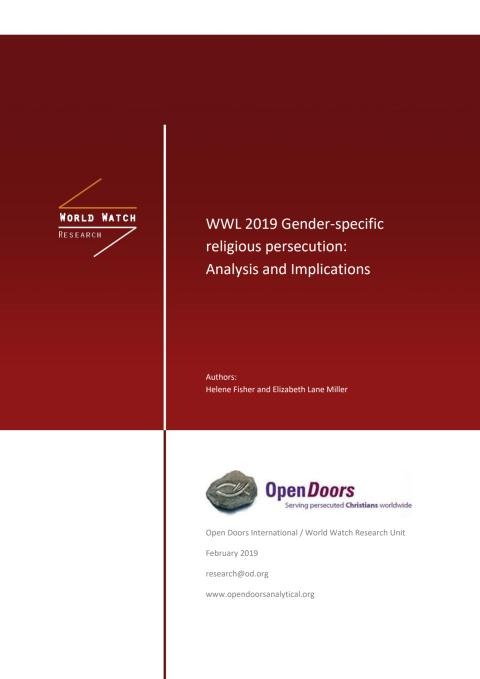 WWL 2019 Gender-specific religious persecution: Analysis and Implications