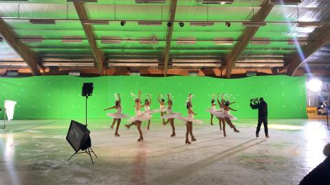 Inspelning av Lisebergs julfilm