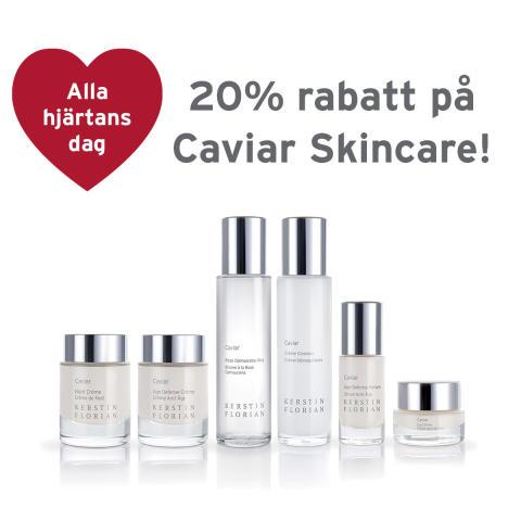 Alla hjärtans dag - 20 % rabatt på Caviar Skincare!