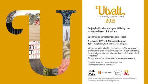 Inbjudan till vernissage för Utvalt, 5 september Tjörnedala konsthall