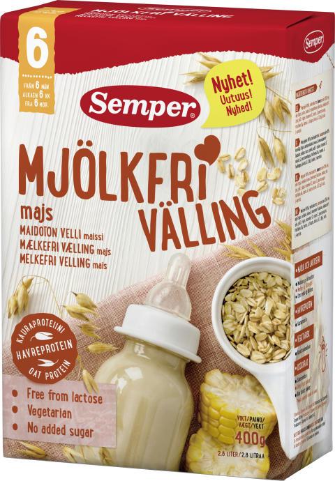 Nytt recept på Mjölkfri välling 6 M