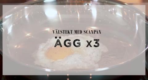 Välstekt med Scanpan: Ägg x3