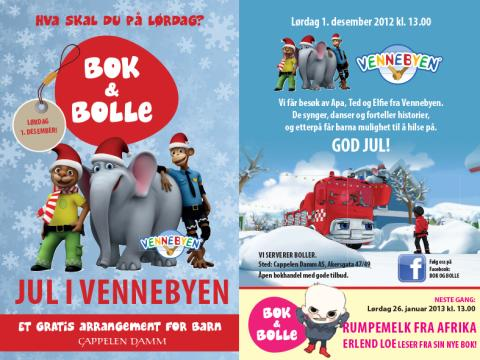 Velkommen til bok & bolle - et gratis arrangement for barn