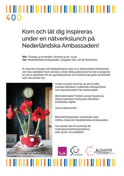 Inbjudan till Nederländska Ambassaden