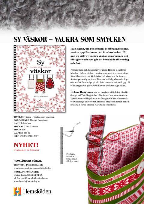 Vackra väskor & Virkmagi - Två nya böcker från Hemslöjdens förlag!