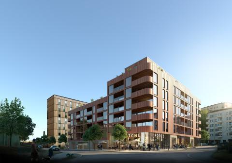 Riksbyggen vinner markanvisning om att bygga flerfamiljs trähus i Göteborg