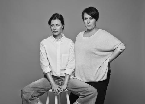 Hannah & Amanda svart/hvitt