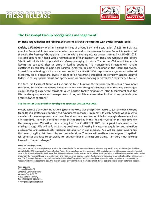 English version press release