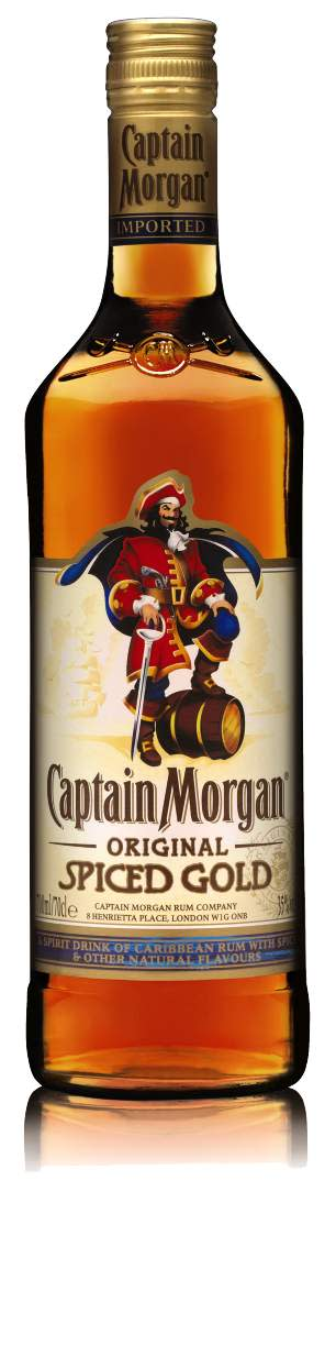 CAPTAIN MORGAN® SPICED GOLD, 70 cl 35,0 Vol %