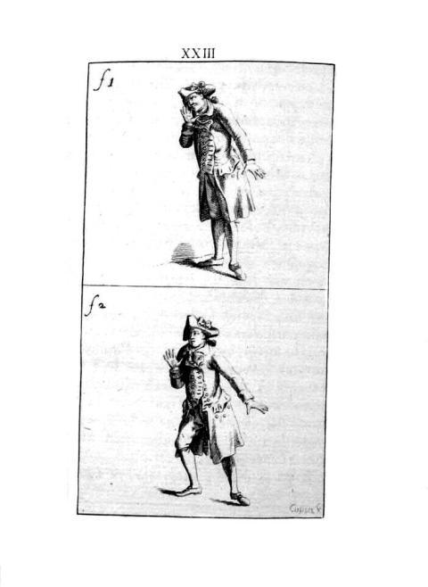 Illustration from Johann Jacob ENGEL, Ideen zu einer Mimik, Berlin 1785-1786.