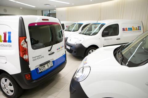 Sveriges första eldrivna transportbilar