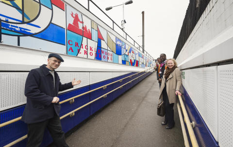 Cricklewood's heritage honoured with colourful mural at Thameslink station