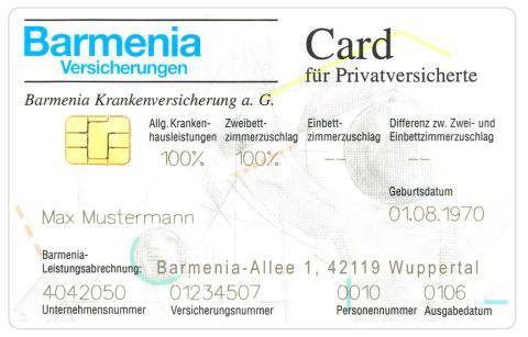 Barmenia Versichertenkarte