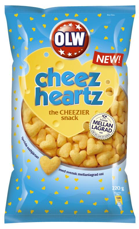 Hjärtformade ostbågar till fredagsmyset