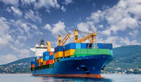 Fully loaded ship