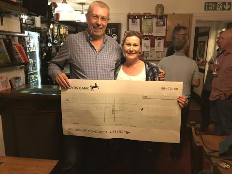 ​St Johns Football Club donation to ellenor in memory of Coach