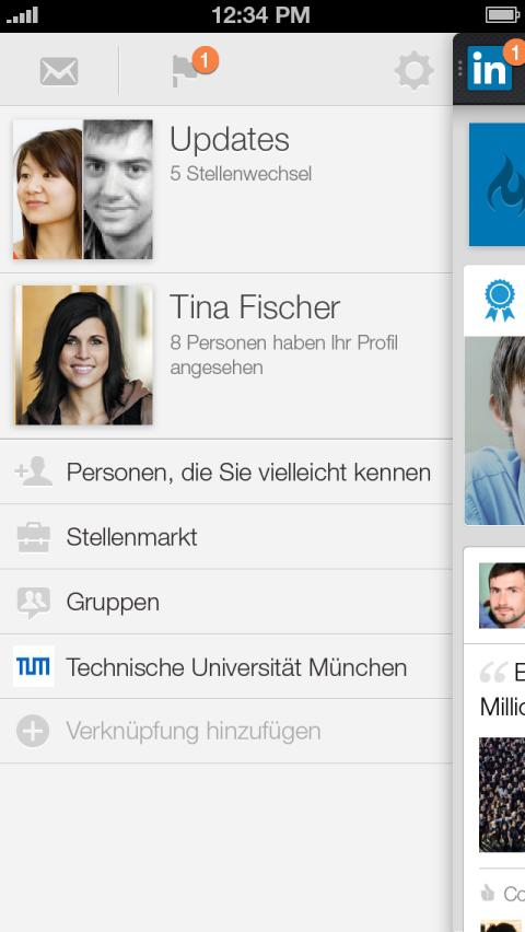 Screenshot LinkedIn Iphone5 Nav