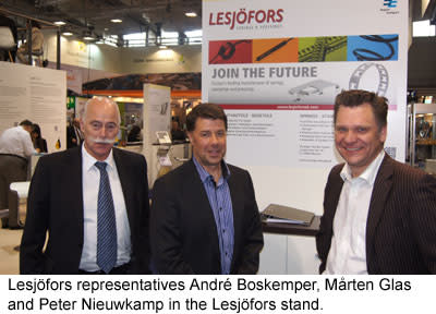 Joint forces – The German Group companies of Lesjöfors exhibited at the HANNOVER MESSE 2014
